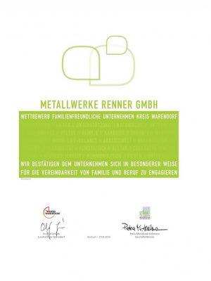 Zertifikat Familienfreundliches Unternehmen 2